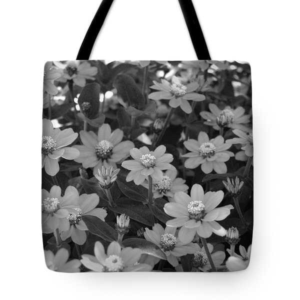 Black And White Flowers Tote Bag by Amy Fose