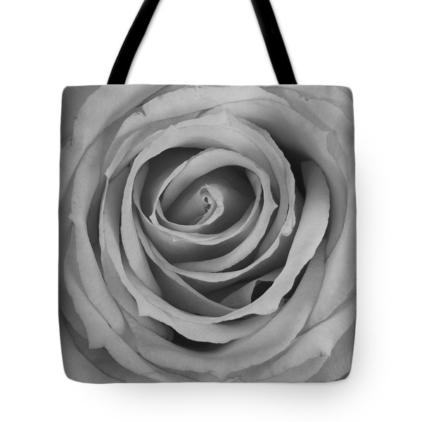 Black And White Spiral Rose Petals Tote Bag by James BO  Insogna