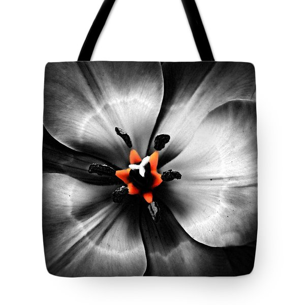 Black And White With A Glow Of Color Tote Bag