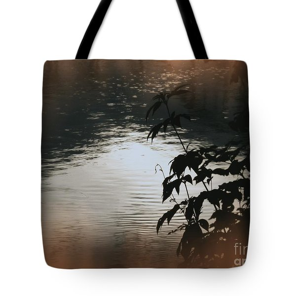 Black Bamboo Tote Bag by Angela Wright