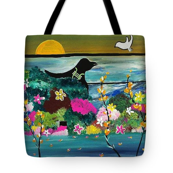 Black Birds Tote Bag