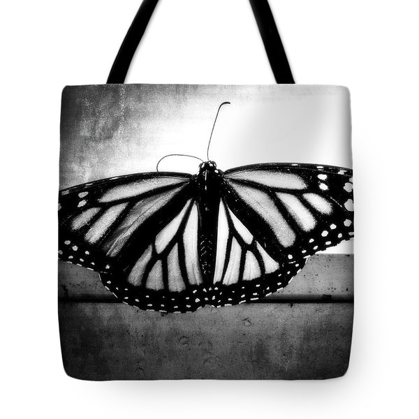 Black Butterfly Tote Bag by Julia Wilcox