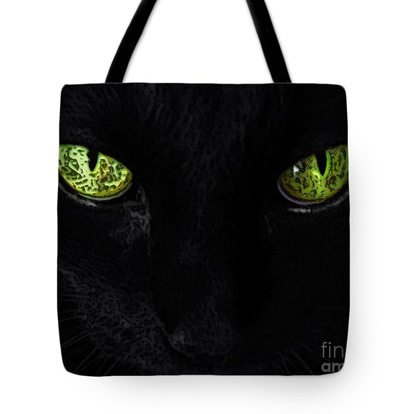 Black Cat Mystique Tote Bag by Dale   Ford