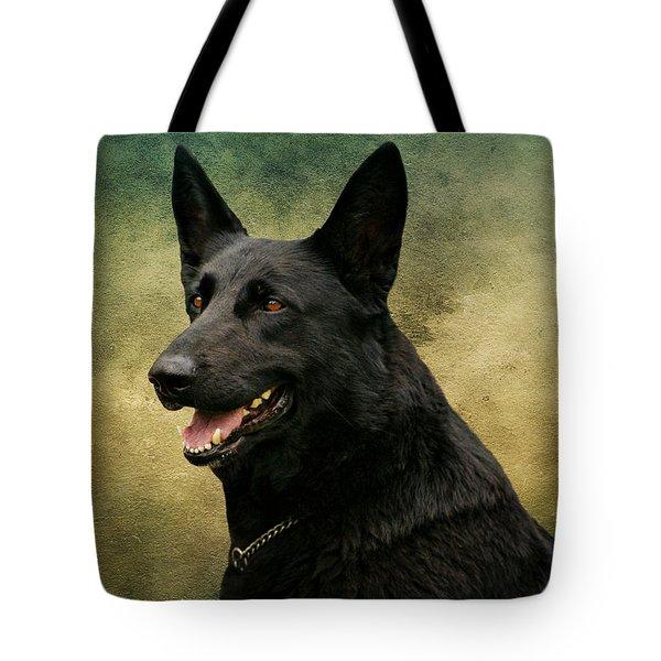Black German Shepherd Dog IIi Tote Bag