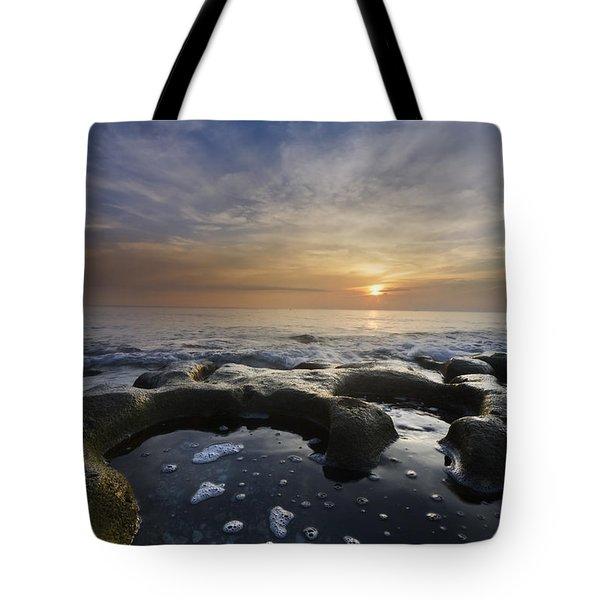 Black Sea Tote Bag by Debra and Dave Vanderlaan