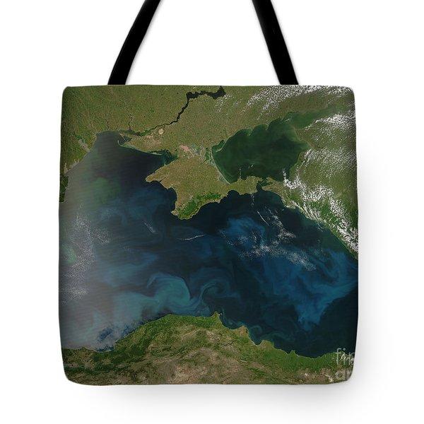 Black Sea Phytoplankton Tote Bag by Nasa