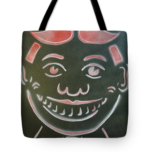 Black Tilly With Red And White Tote Bag by Patricia Arroyo