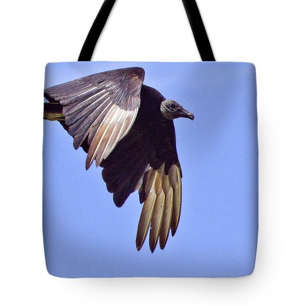 Black Vulture Tote Bag by Roger Wedegis