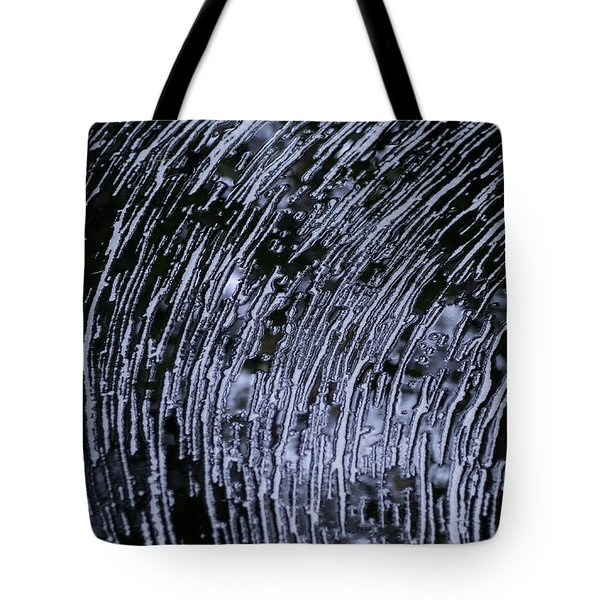 Black Water White Foam Tote Bag by Betty Depee