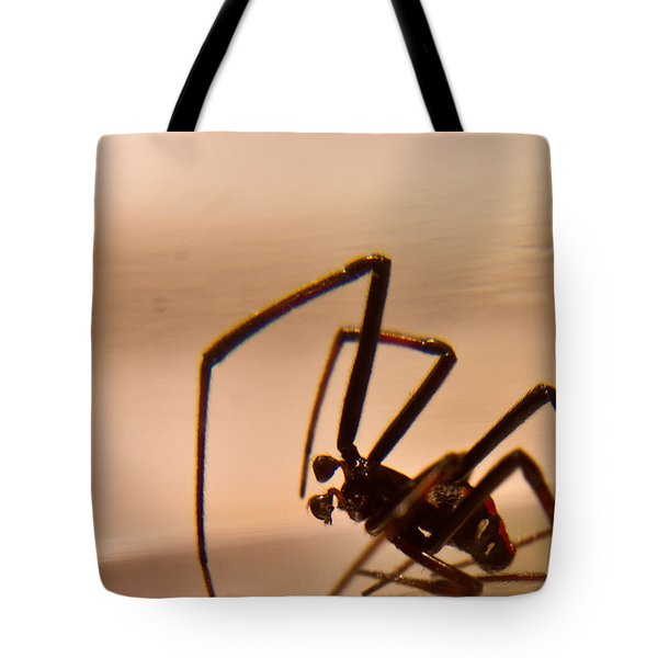 Black Widow Male Tote Bag by Douglas Barnett