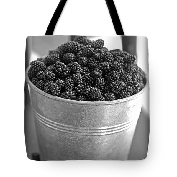 Tote Bag featuring the photograph Blackberries In Bucket by Alana Ranney