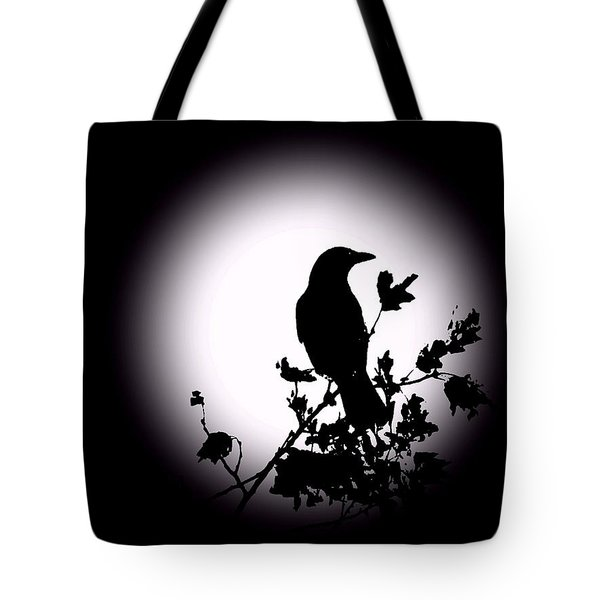 Blackbird In Silhouette  Tote Bag by David Dehner