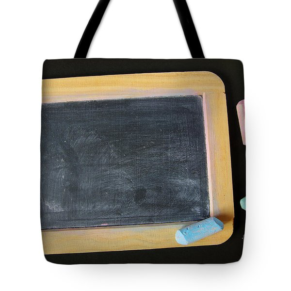 Blackboard Chalk Tote Bag