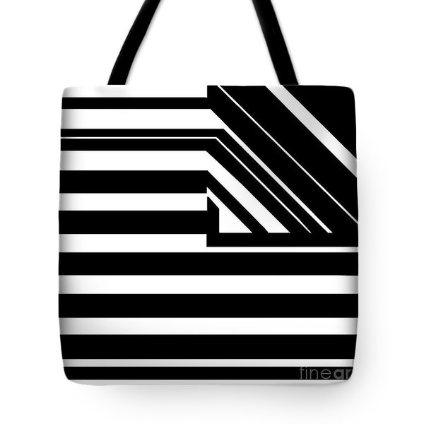Black Flag Optical Illusion Tote Bag
