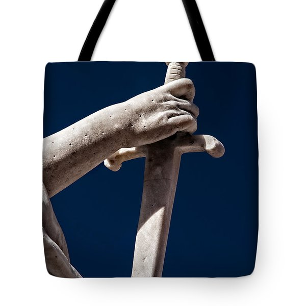 Blade In Hand Tote Bag by Christopher Holmes