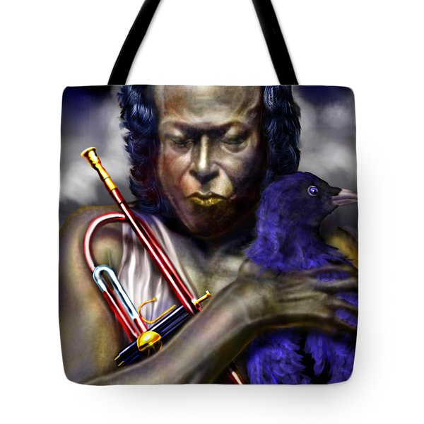 Blessings And Curses - Miles Davis Tote Bag by Reggie Duffie