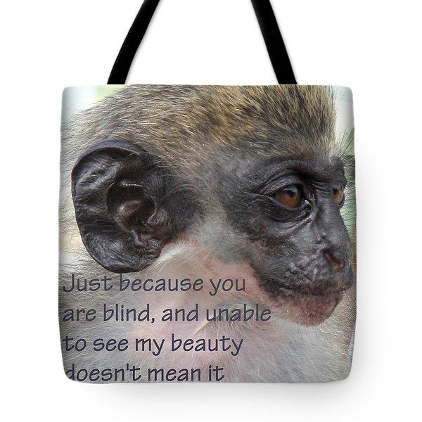 Blind Beauty Tote Bag by Ian  MacDonald