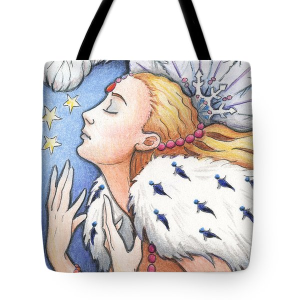 Blissful Winter Tote Bag by Amy S Turner