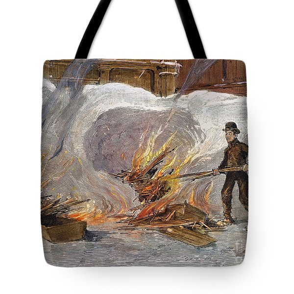 Blizzard Of 1888, Nyc Tote Bag by Granger