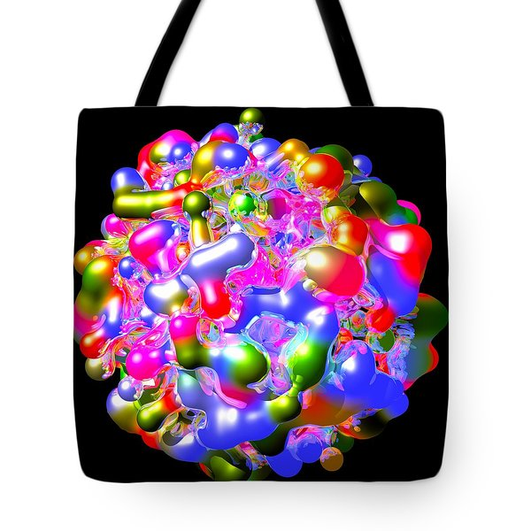 Tote Bag featuring the digital art Blob Of Color... by Tim Fillingim