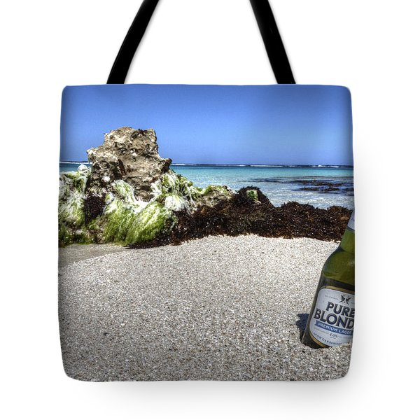 Blonde On The Beach  Tote Bag by Rob Hawkins