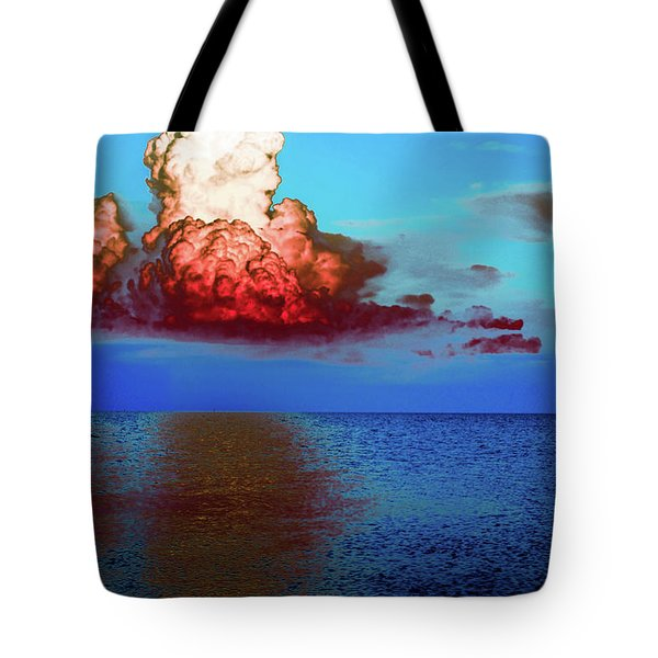 Blood Red Clouds Tote Bag by Shannon Harrington