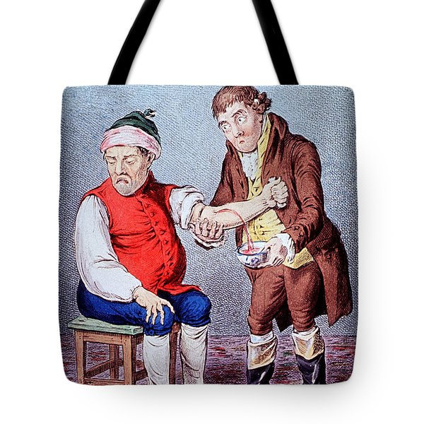 Bloodletting-1804 Tote Bag by Science Source