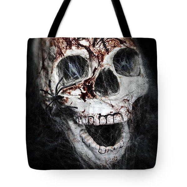 Bloody Skull Tote Bag by Joana Kruse