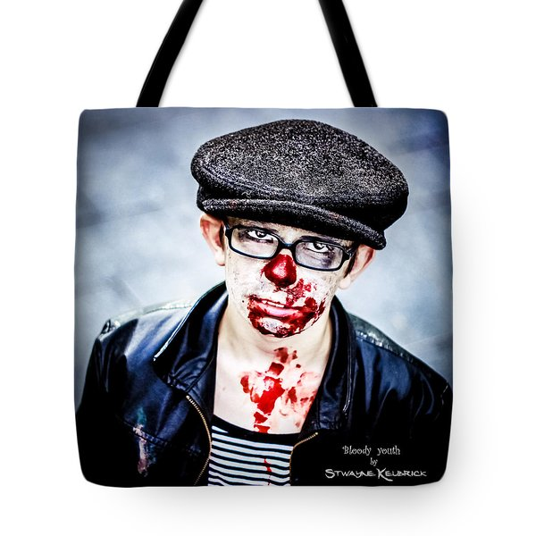 Tote Bag featuring the photograph Bloody Youth by Stwayne Keubrick