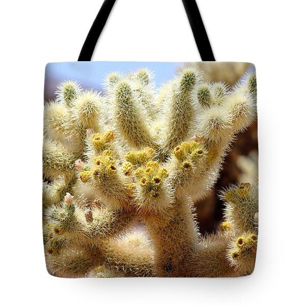 Blooming Cholla Tote Bag