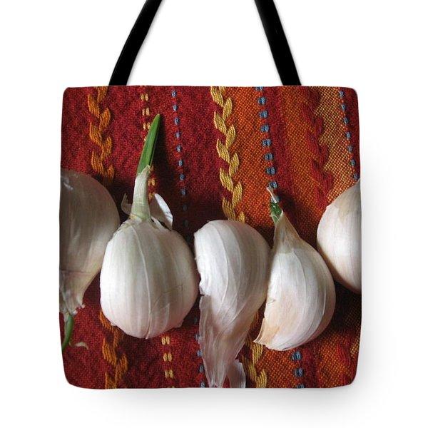 Blooming Garlic Bulbs Tote Bag