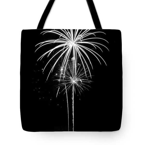 Blooming In Black And White Tote Bag by Bill Pevlor