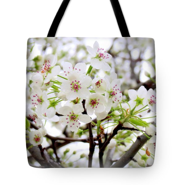Tote Bag featuring the photograph Blooming Ornamental Tree by Kay Novy