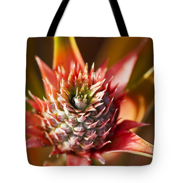 Blooming Pineapple Tote Bag by Ron Dahlquist