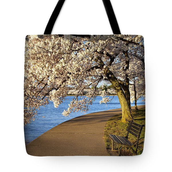 Blossoming Cherry Trees Tote Bag by Brian Jannsen