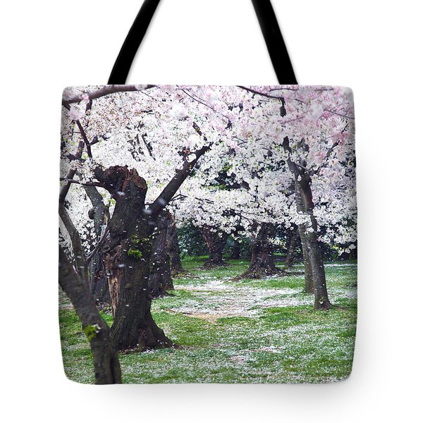 Blossoms Of The Heart Tote Bag by Mitch Cat