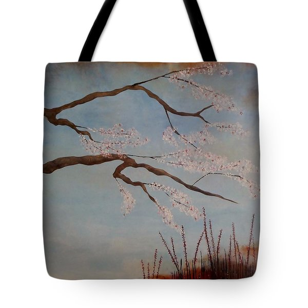 Blossoms Over The Lake Tote Bag by Catherine JN Christopher