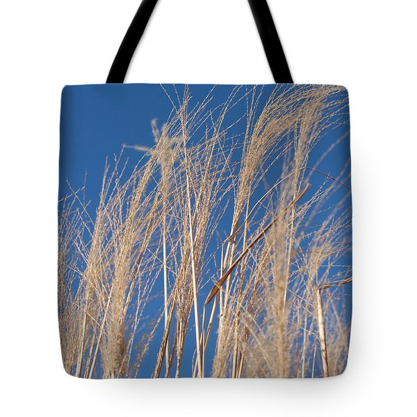 Tote Bag featuring the photograph Blowing In The Wind by Barbara McMahon