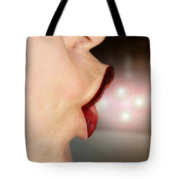 Blowing Magical Kiss Tote Bag by Ester  Rogers