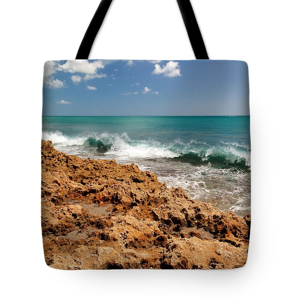 Blowing Rocks Jupiter Island Florida Tote Bag by Michelle Wiarda