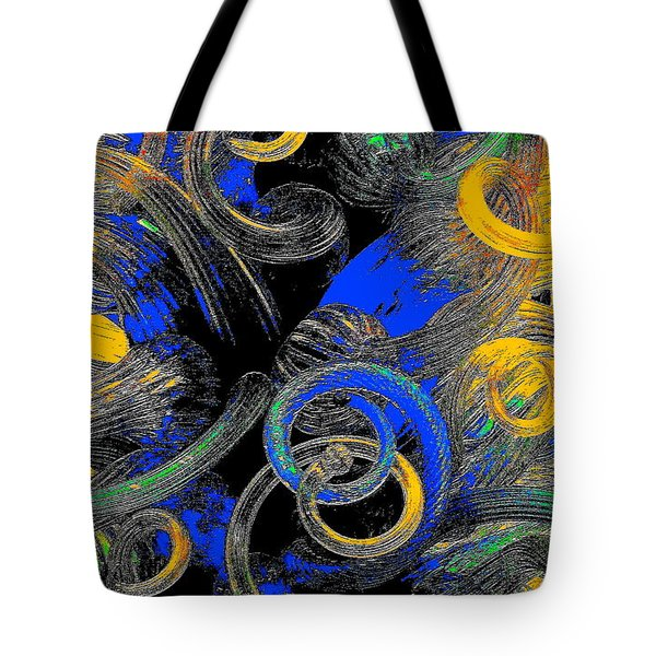 Blue And Orange Tote Bag