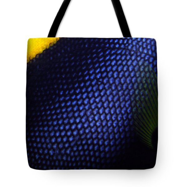 Blue And Yellow Scales Tote Bag