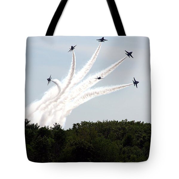 Blue Angels Star Burst Tote Bag by Kevin Fortier