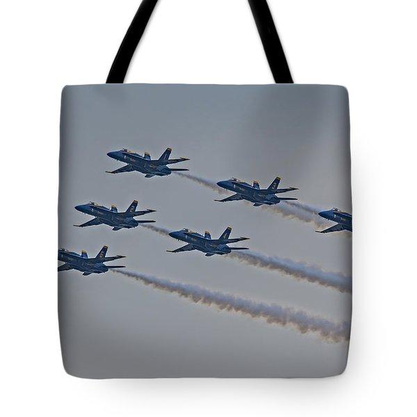 Blue Angels Tote Bag by Susan Candelario