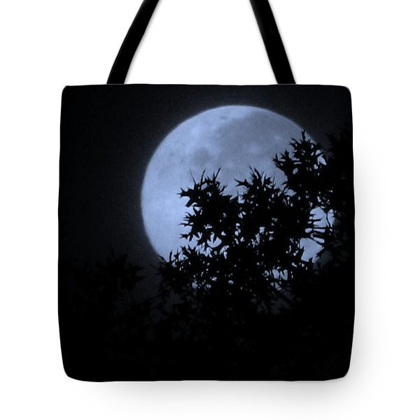 Blue August Tote Bag