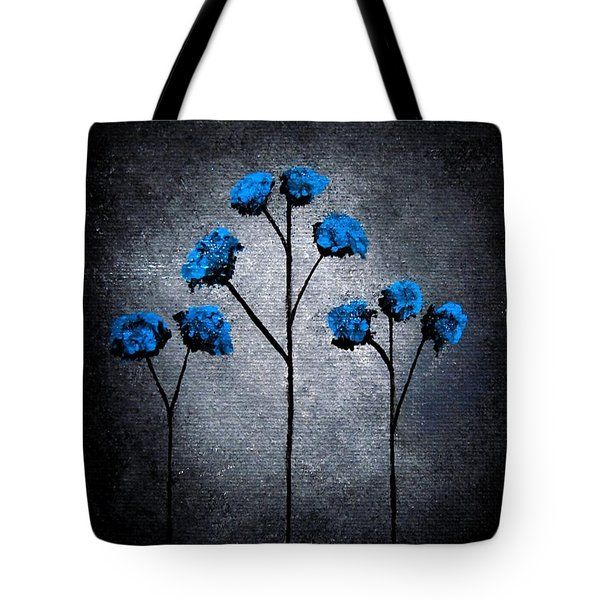 Blue Beauties Tote Bag by Oddball Art Co by Lizzy Love