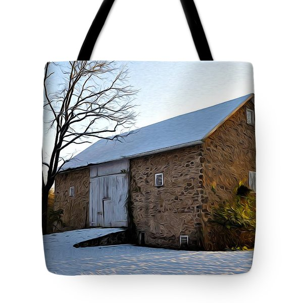 Blue Bell Barn Tote Bag by Bill Cannon