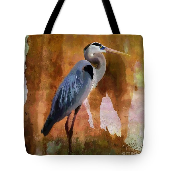Blue Tote Bag by Betty LaRue