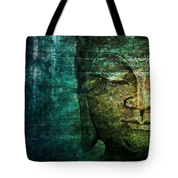 Blue Buddha Tote Bag by Claudia Moeckel