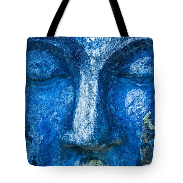 Tote Bag featuring the photograph Blue Buddha  by Luciano Mortula